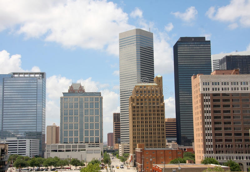Skyline of Houston stock images