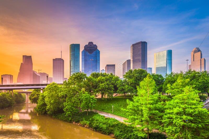 Skyline Houstons, Texas, USA lizenzfreie stockbilder