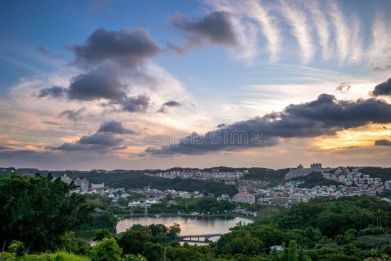 Skyline of hsinchu royalty free stock images