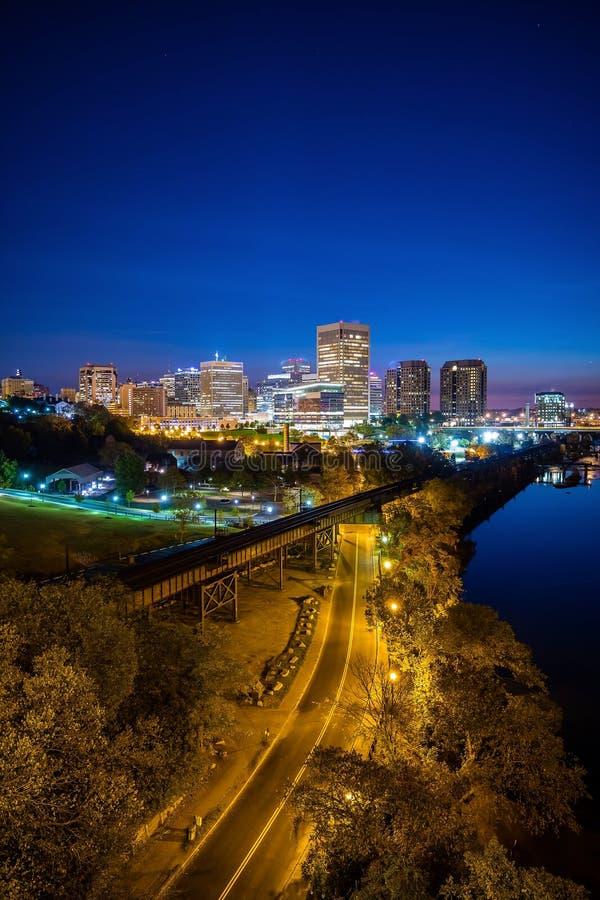 Skyline im Stadtzentrum gelegenen Richmonds, Virginia lizenzfreie stockfotografie