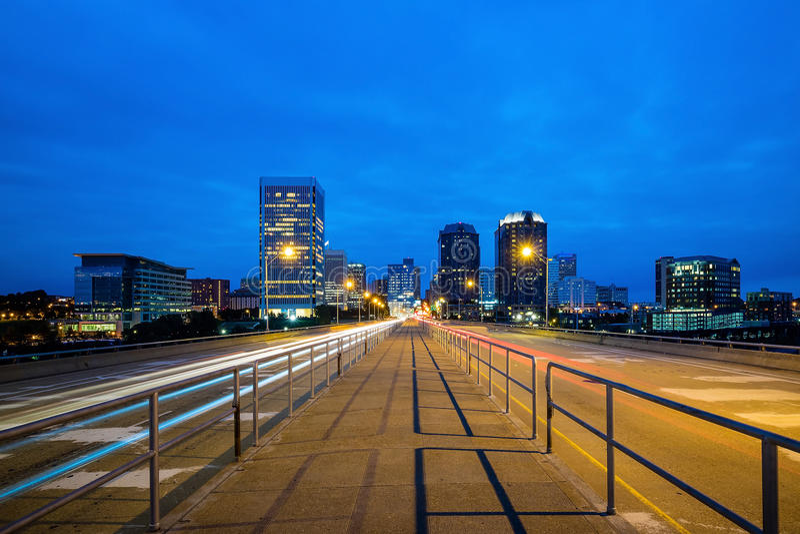 Skyline im Stadtzentrum gelegenen Richmonds, Virginia stockbild