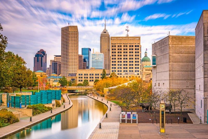 Skyline Indianapolis, Indiana, USA stockfoto