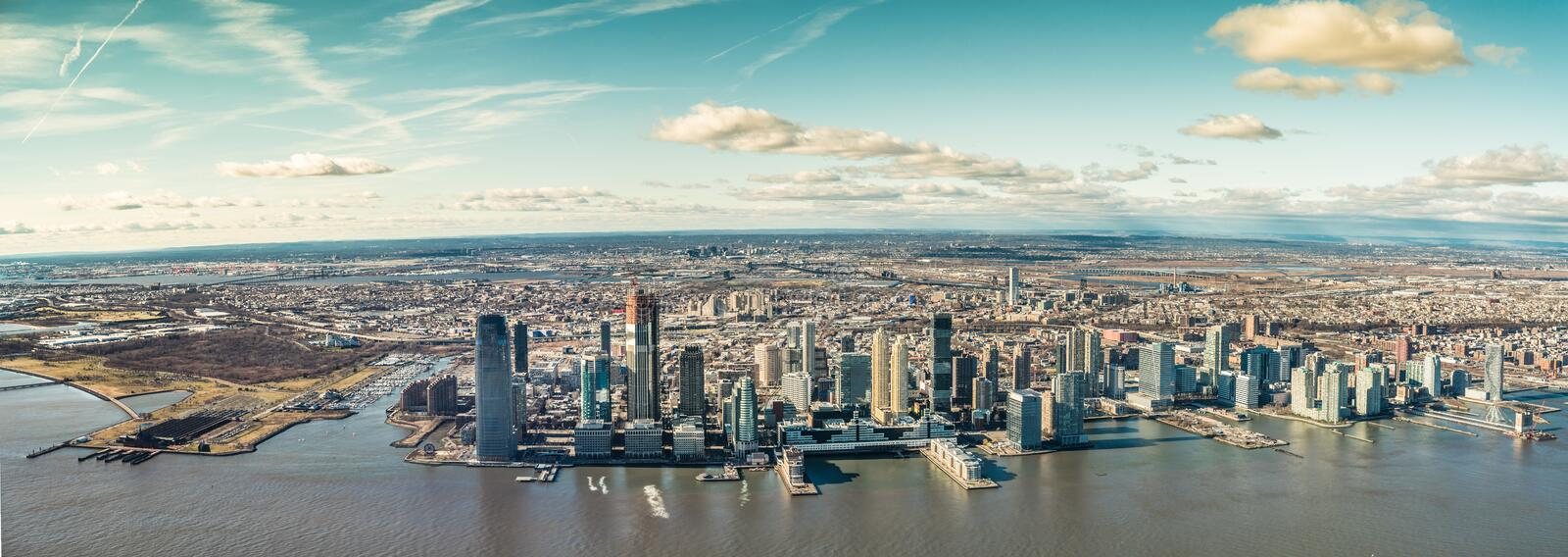 Skyline Jersey City in the U.S. state of New Jersey stock photos