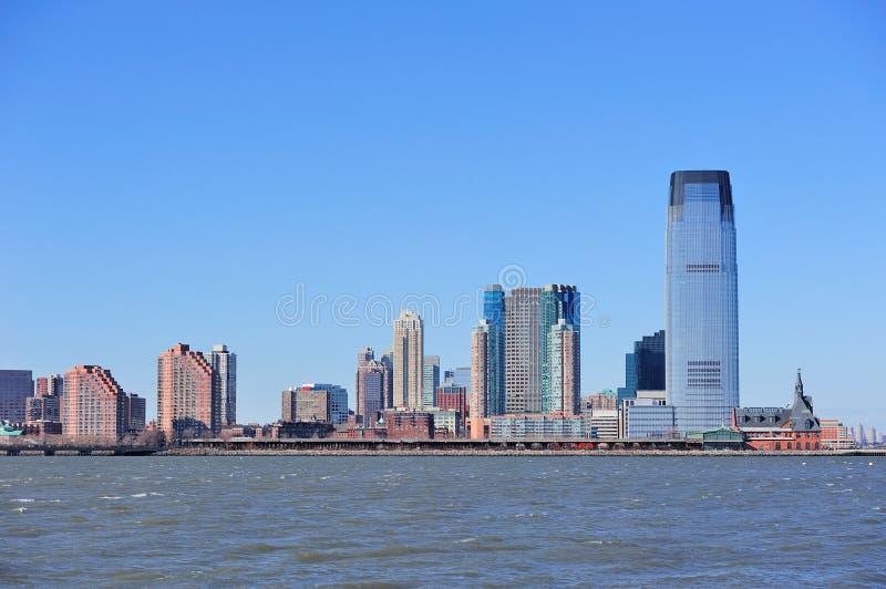 Skyline Jersey-Hoboken stockbild