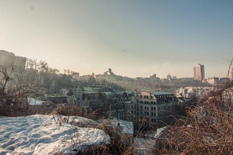 Skyline Kyev, Ukraina obraz stock