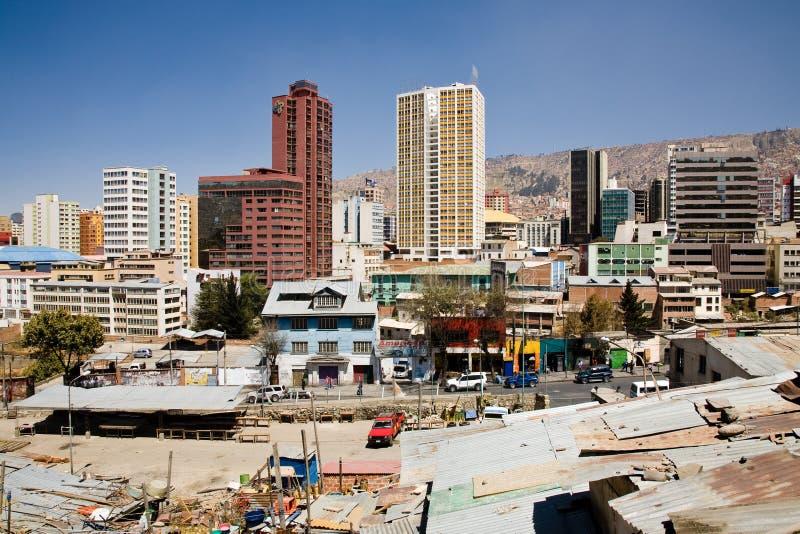 Skyline of La Paz royalty free stock images