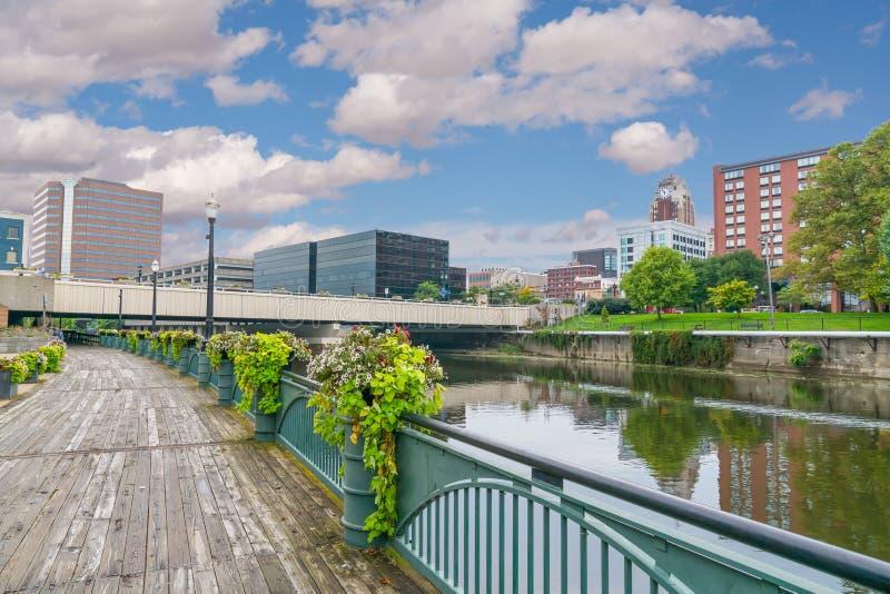 Skyline of Lansing Michigan royalty-vrije stock foto's