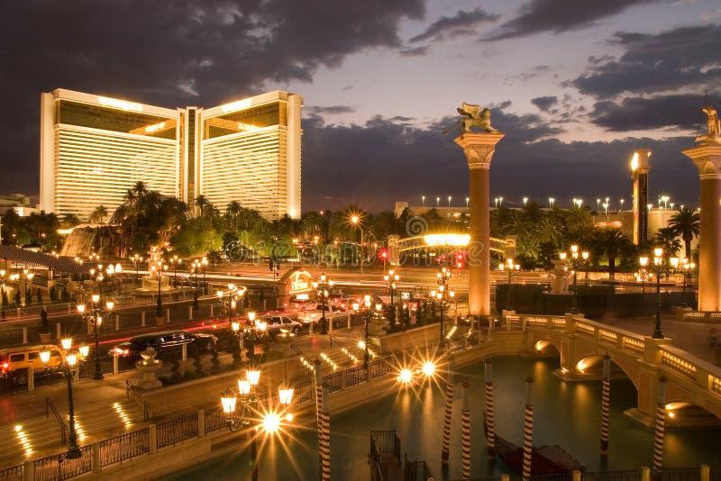 Skyline of Las Vegas royalty free stock images