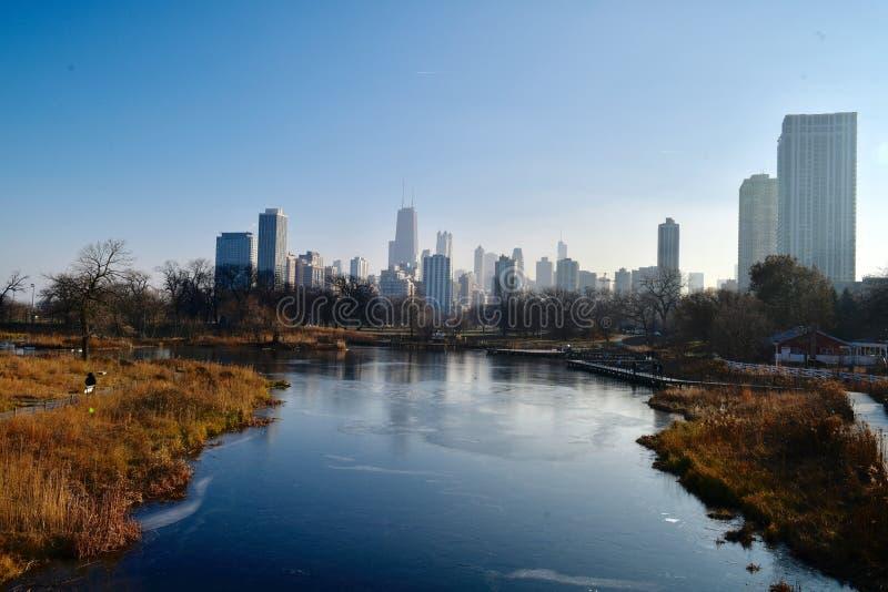 Skyline of Lincoln zpark stock photos