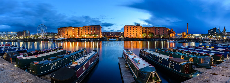 Skyline Liverpool UK stock images