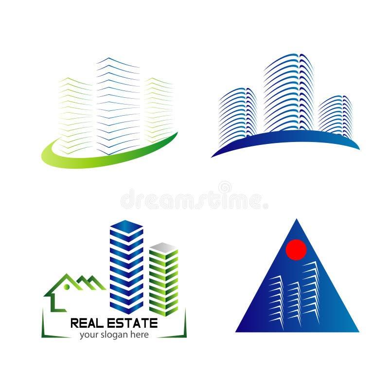 Skyline logo set template design. Vector stock illustration