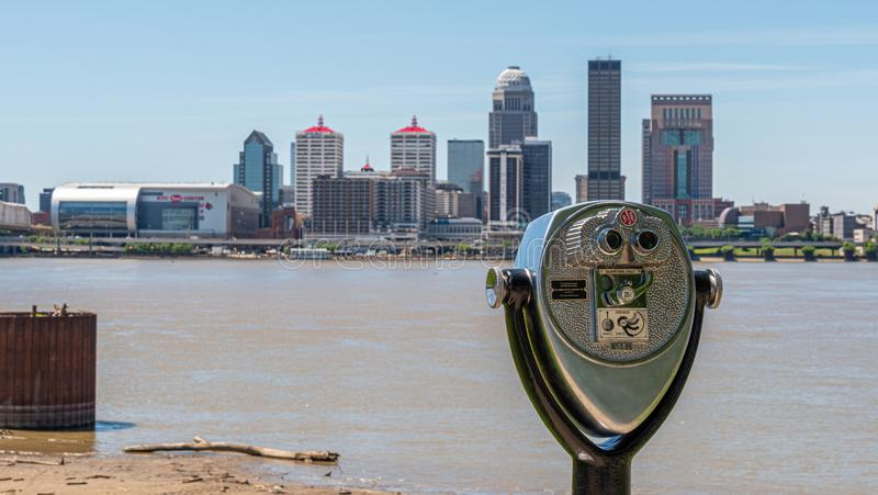 Skyline of Louisville - view from Ashland Park - LOUISVILLE. USA - JUNE 14, 2019 royalty free stock photo