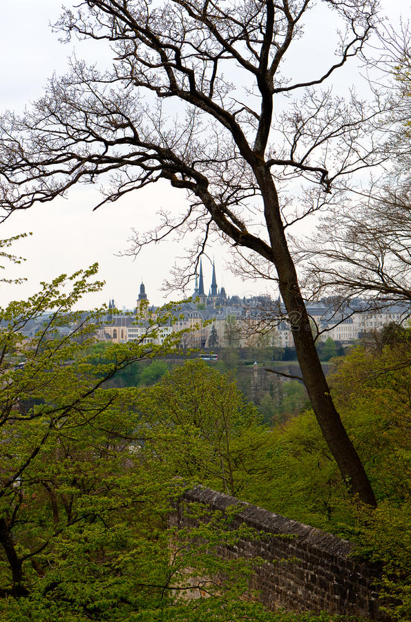 Skyline-Luxemburg-Stadtzentrum stockfotos