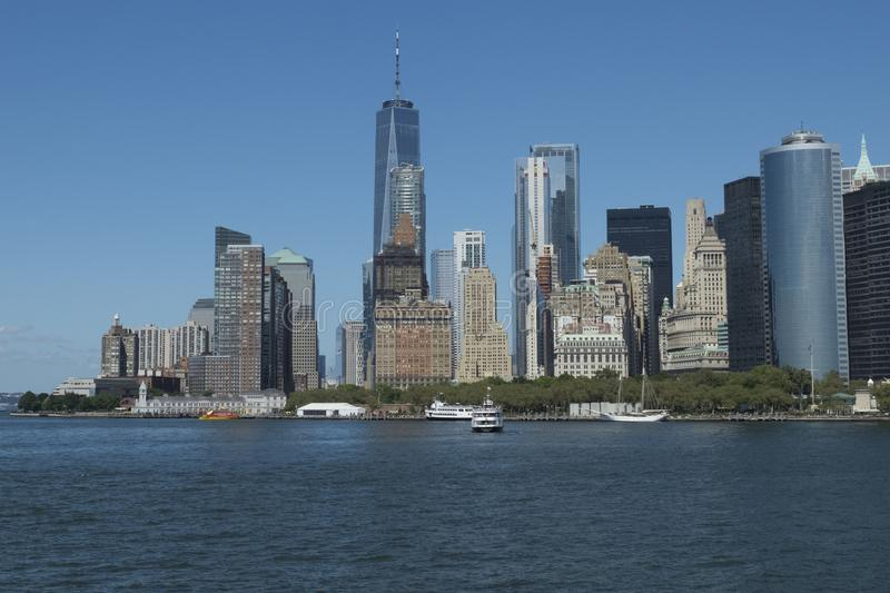 One World Trade Centre & Skyline Manhattan royalty free stock photo