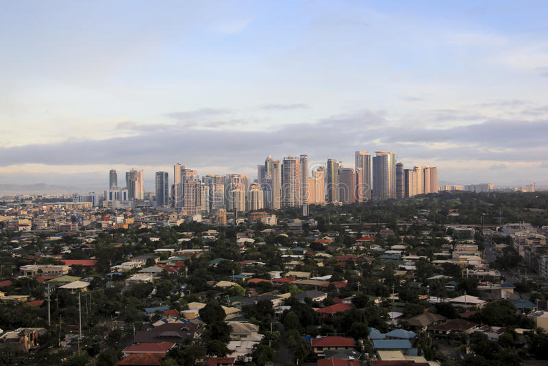 Skyline manila Filipinas do bonifacio do forte fotos de stock royalty free