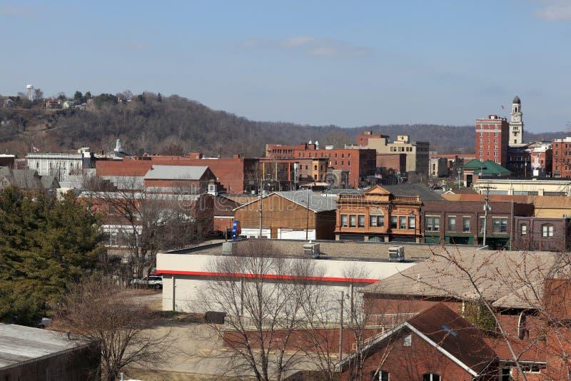 Skyline of Marietta. In spring, USA, Ohio royalty free stock photos