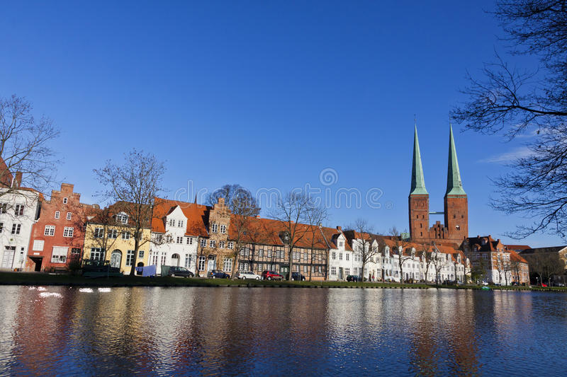 Skyline Of The Medieval City Of Lubeck Royalty Free Stock Photo