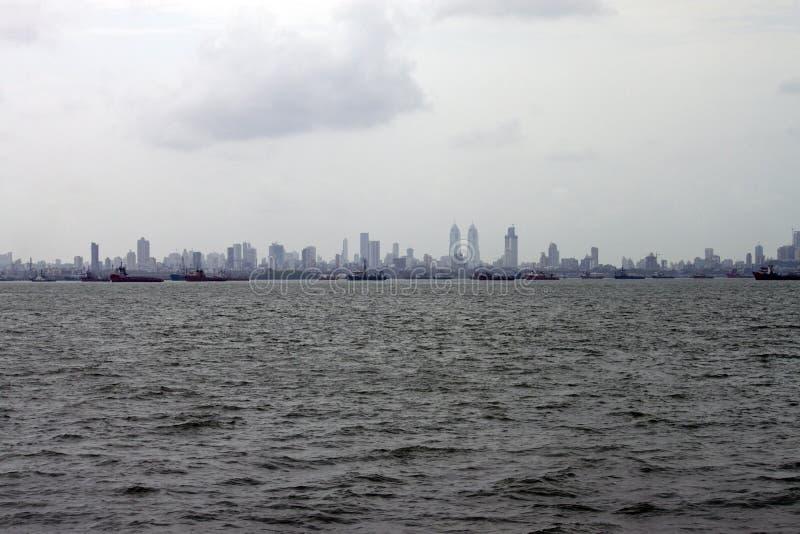 Skyline of megalopolis Mumbai. India stock photo