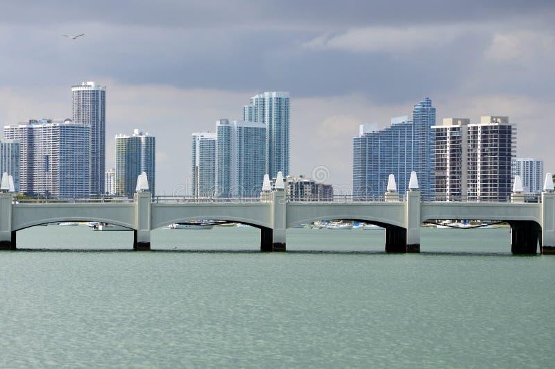 Skyline Miami imagens de stock royalty free