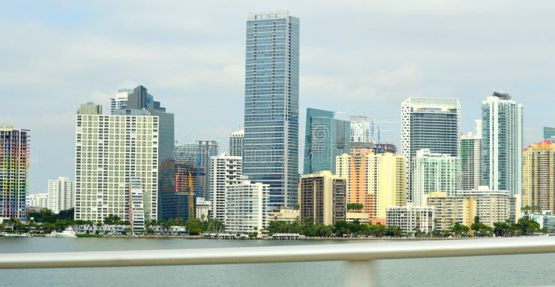Skyline Miami de Bayfront fotos de stock royalty free
