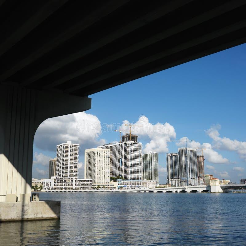 Skyline of Miami, Florida, USA. royalty free stock photos