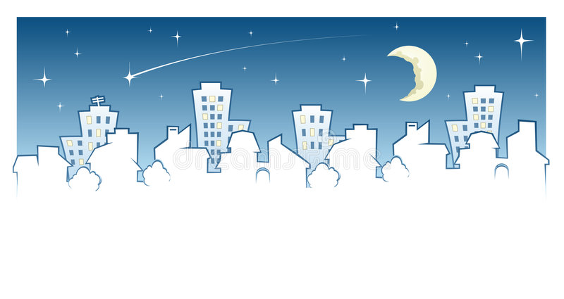 skyline miasta ilustracji