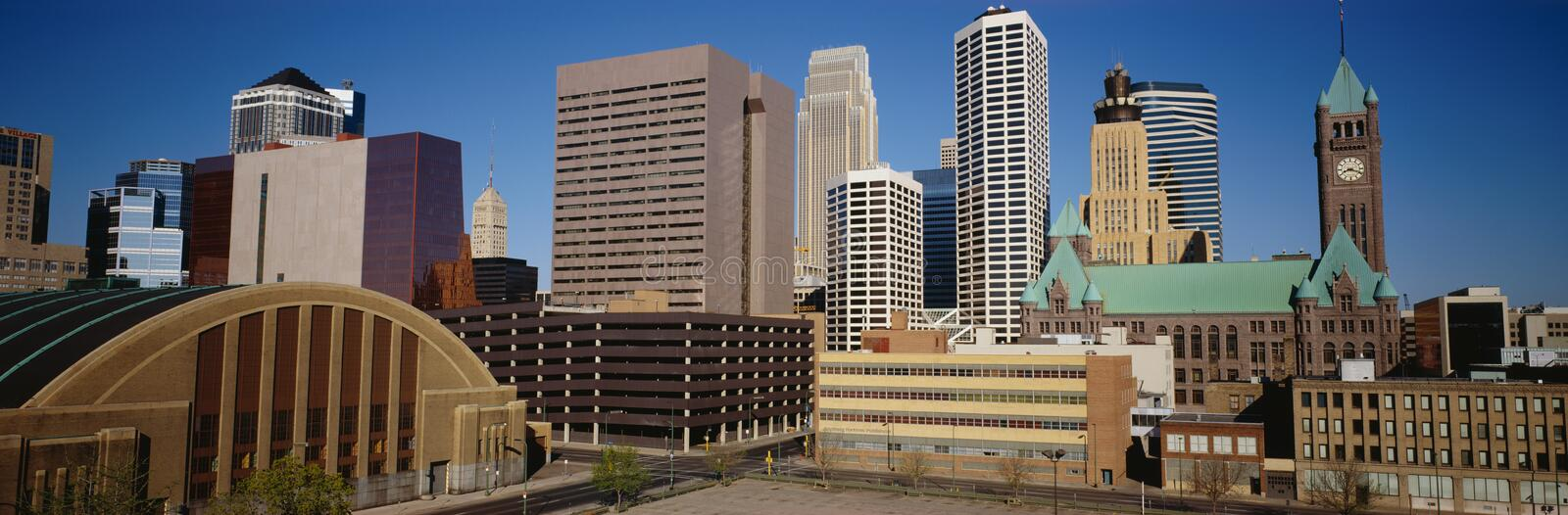 Skyline of Minneapolis royalty free stock images