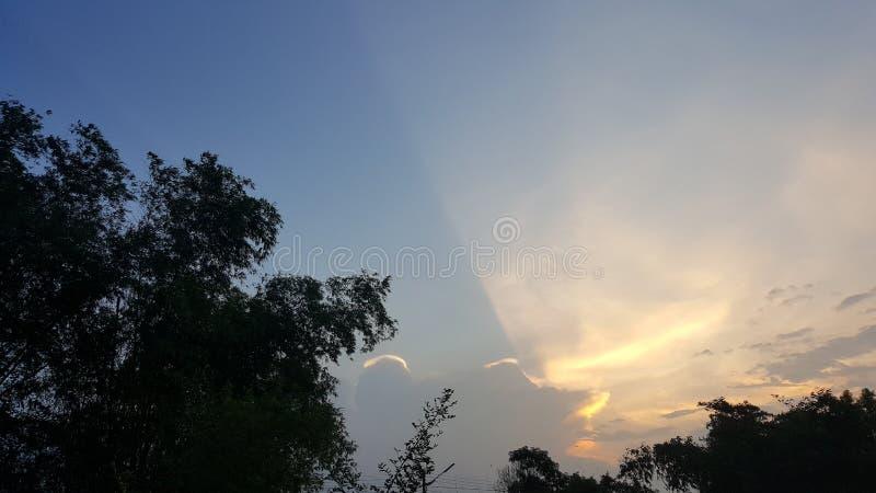 Skyline mix color sunsine on everning stock photos