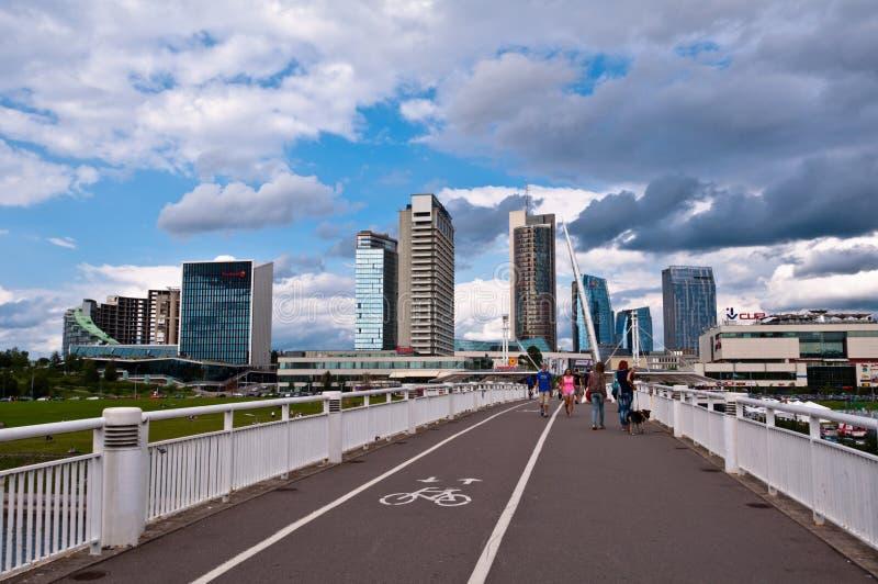 Skyline of Modern City Vilnius stock images