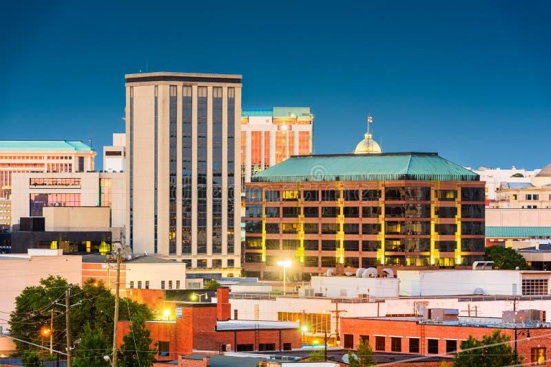 Skyline Montgomerys, Alabama, USA stockfotos