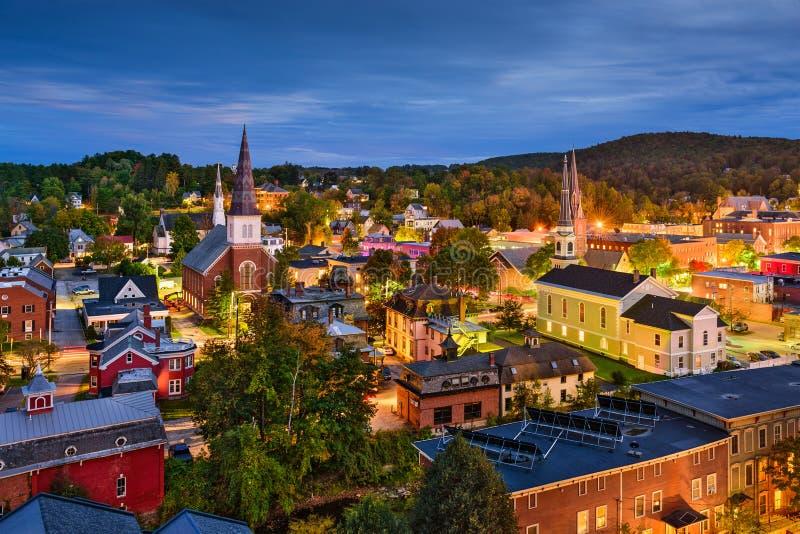 Skyline Montpeliers, Vermont lizenzfreies stockbild