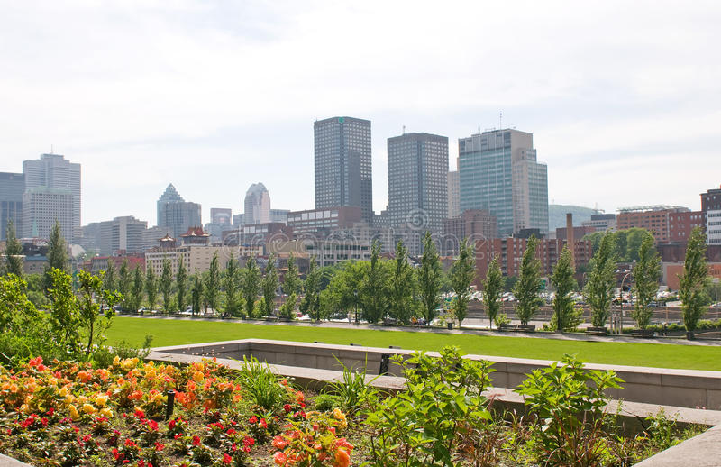 Skyline Montreal Quebec Canada Stock Photography