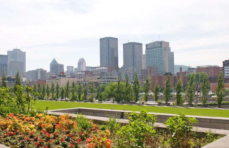 Skyline Montreal Quebec Kanada   stockfotografie