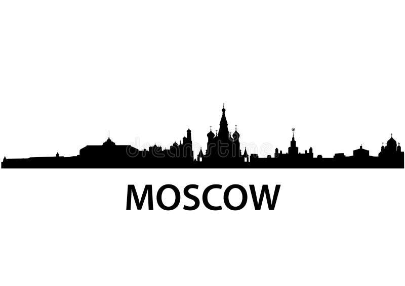 Skyline Moscovo ilustração stock