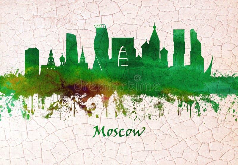 Skyline Moskaus Russland lizenzfreie abbildung