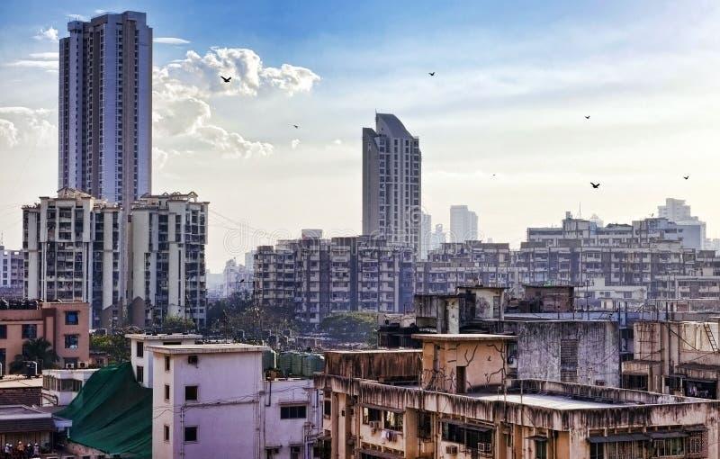 Skyline of Mumbai, India stock image