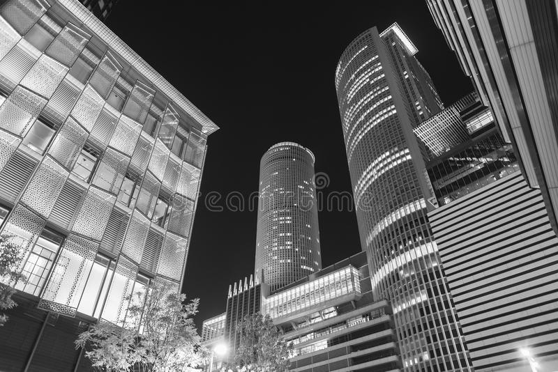 Skyline of Nagoya city, Japan. High rise office building in Nagoya City, Japan royalty free stock image