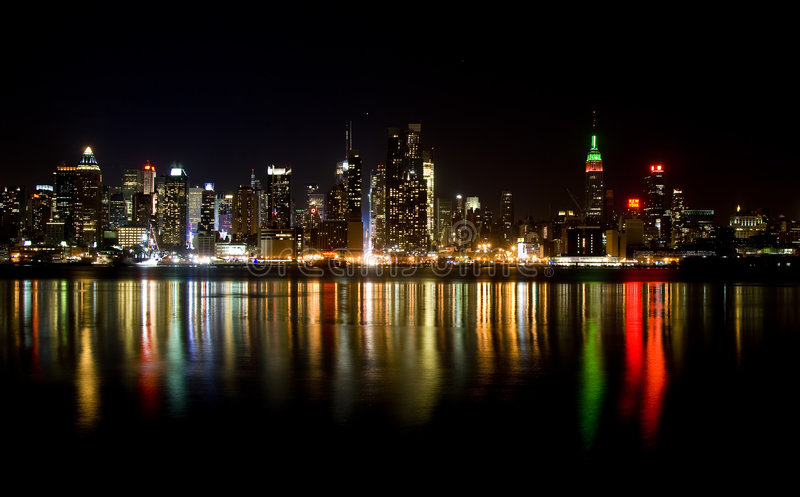 Skyline of New York City stock photography