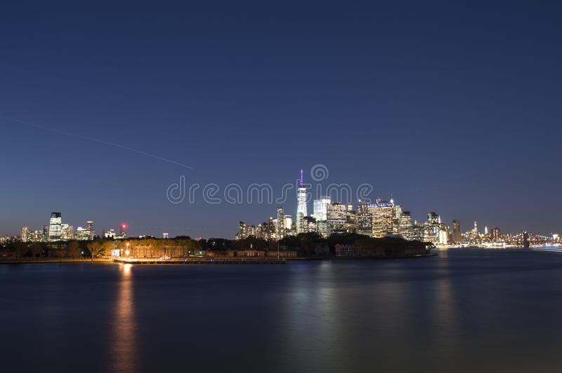 Skyline New York City de Manhatten imagem de stock