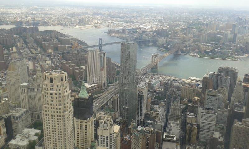 Skyline of New York City stock photography