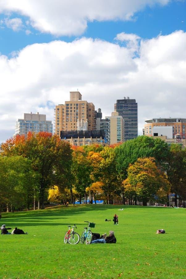 Skyline New- York Citycentral Park Stockfoto