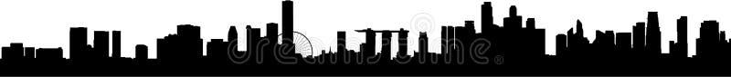 Skyline nova de Singapore ilustração do vetor