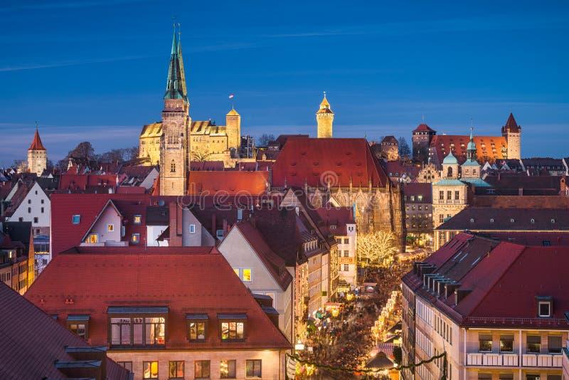 Skyline of Nuremberg, Germany royalty free stock photo