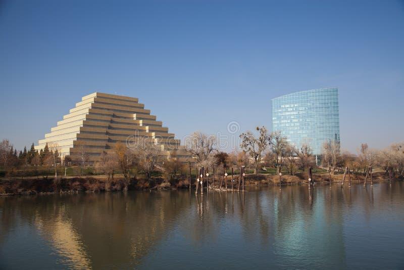 Skyline ocidental de Sacramento imagem de stock royalty free