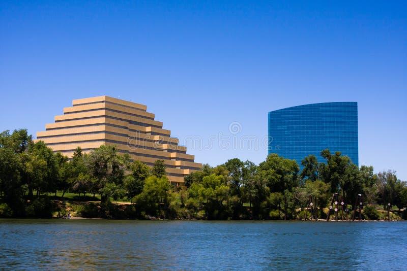 Skyline ocidental de Sacramento imagens de stock