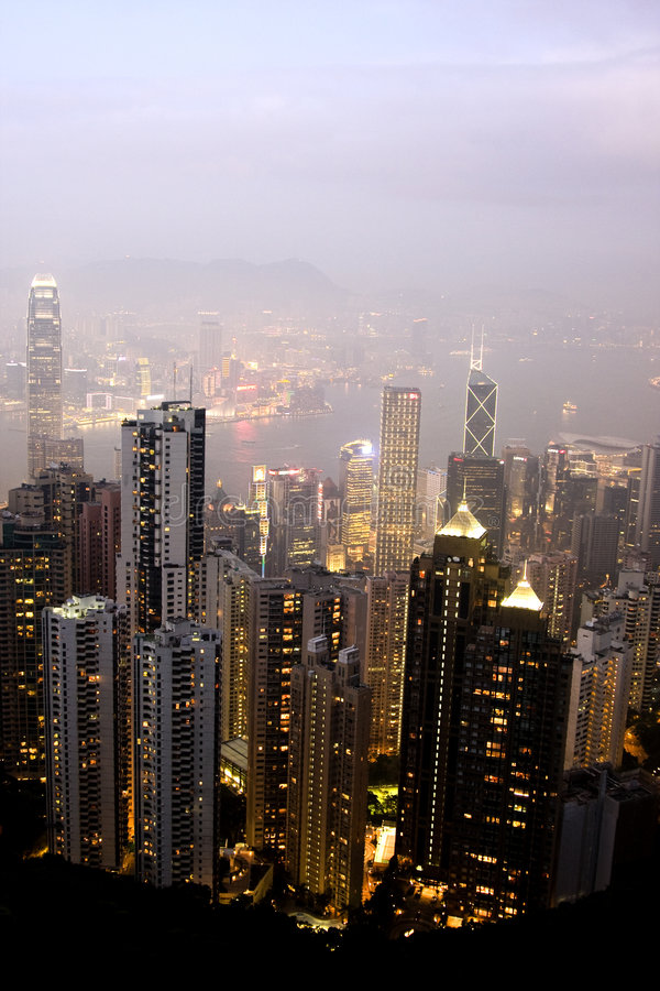 Free Skyline Of Hong Kong City Stock Images - 9251334