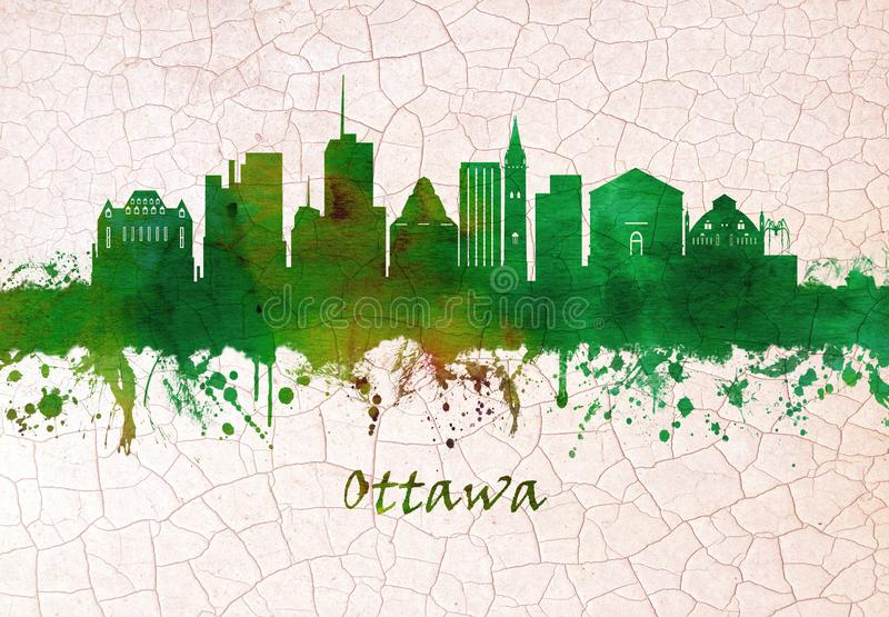 Skyline Ottawas Kanada lizenzfreie abbildung
