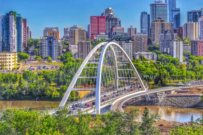 Skyline panorâmico de Edmonton imagem de stock
