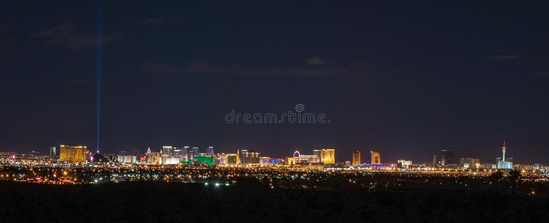 Skyline panorâmico de Las Vegas foto de stock royalty free