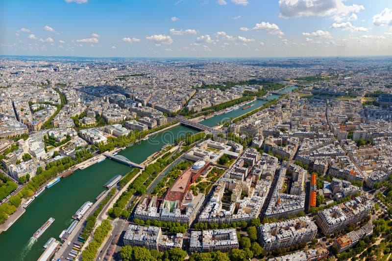 Skyline of Paris stock images